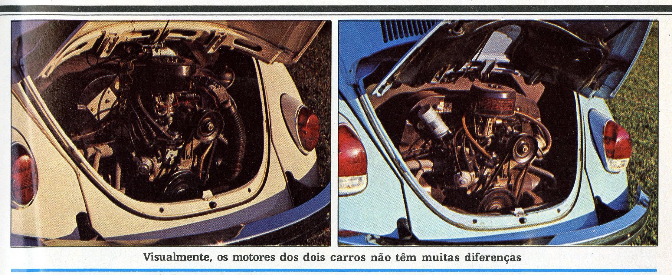 Comparativo entre os motores - original e adaptado (Foto: Autoesporte)