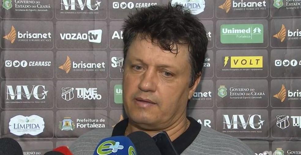 Adílson Batista, técnico do Ceará — Foto: Reprodução/GloboEsporte.com