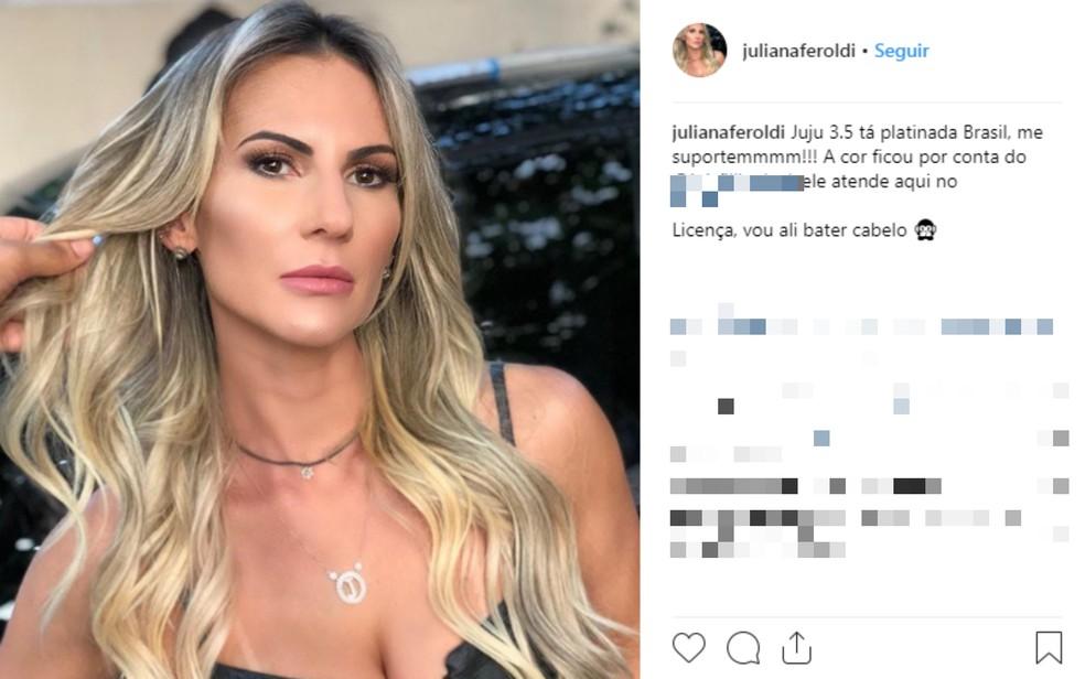 Juliana Feroldi fez denúncias nas redes sociais, depois de registrar ocorrência na Deam em 2017 — Foto: Reprodução/Redes Sociais