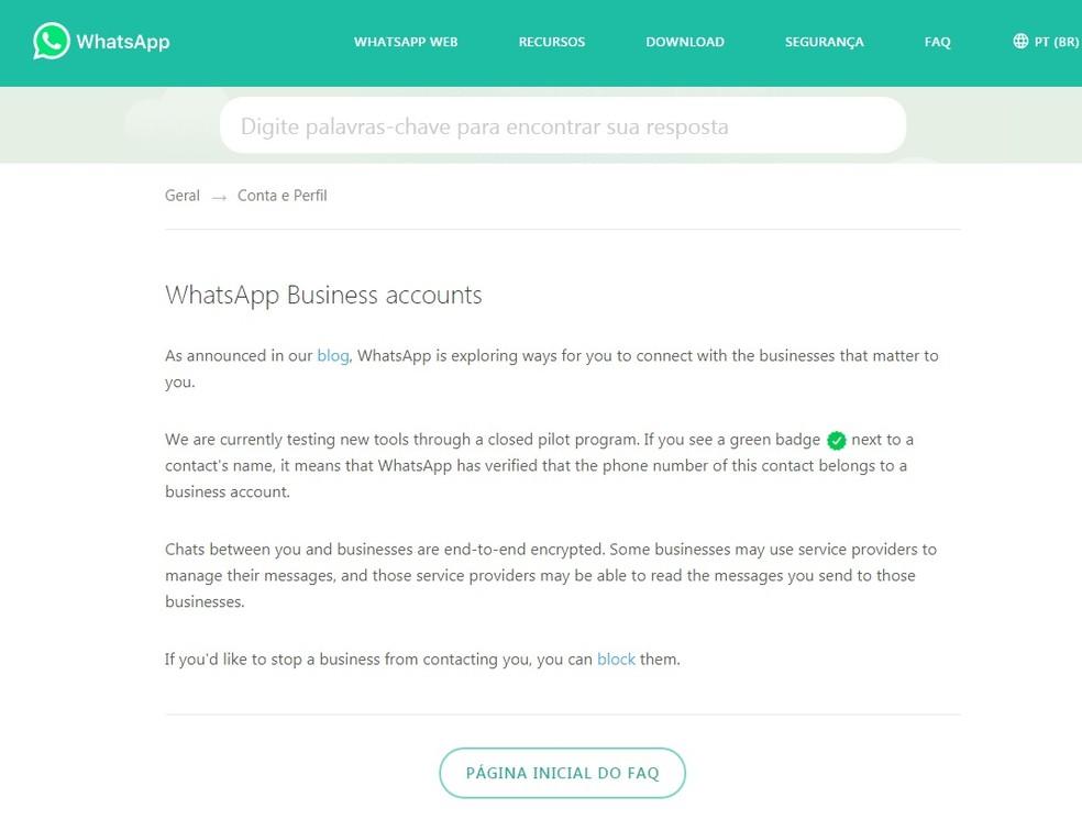 WhatsApp anuncia versão do aplicativo para negócios (Foto: Reprodução/Aline Batista)