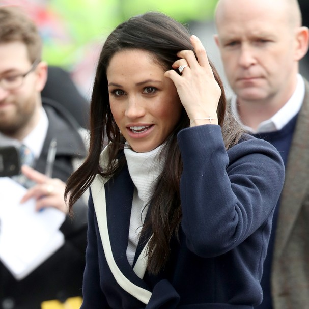 BIRMINGHAM, ENGLAND - MARCH 08:  Meghan Markle arrives to Birmingham on March 8, 2018 in Birmingham, England.  (Photo by Chris Jackson/Chris Jackson/Getty Images) (Foto: Chris Jackson/Getty Images)