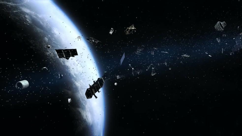 Há cerca de 500 mil detritos no espaço (Foto: BBC)
