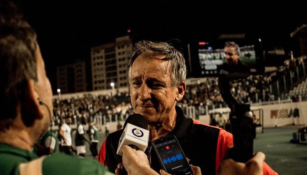 Luis Carlos Cruz, técnico do Itabaiana — Foto: Wendell Rezende/AOI