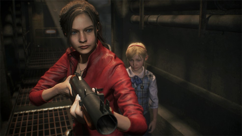 Claired Redfield e Sherry Birkin aparecem em novas imagens do remake de Resident Evil 2 (Foto: Reprodução/DSO Gaming)