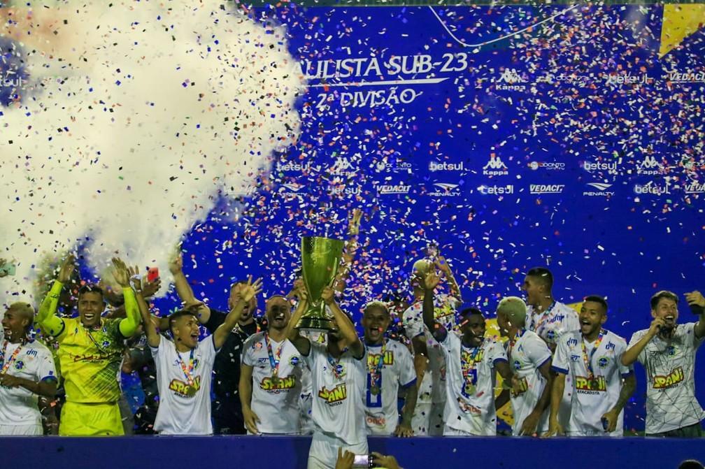 São José foi o campeão da Segundona do Paulista em 2020 — Foto: Danilo Sardinha/ge
