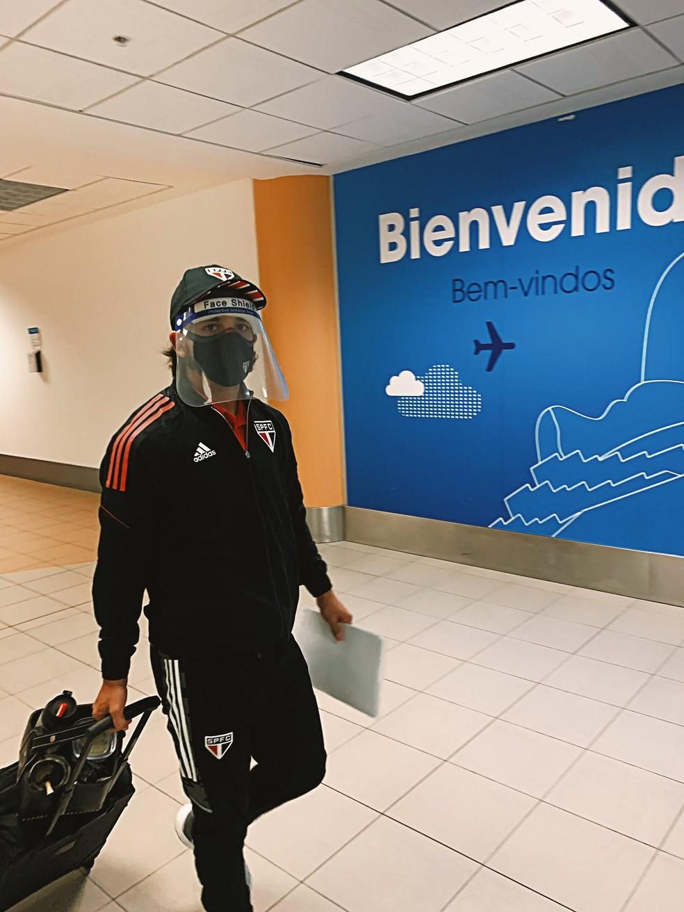 São Paulo desembarca no Peru — Foto: Divulgação