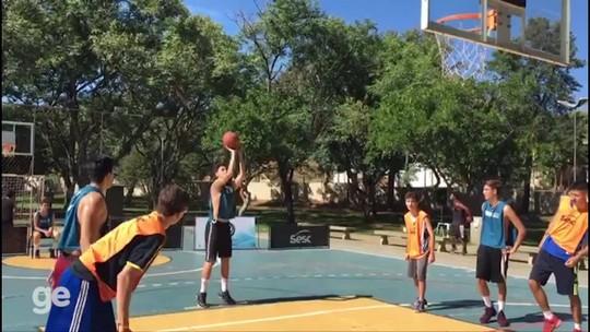 Prudente segue tendência mundial, e basquete 3x3 reúne de veteranos a iniciantes