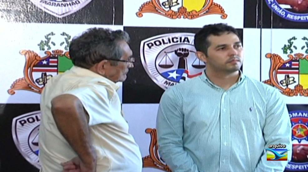 José Alencar Miranda de Carvalho e Gláucio Alencar são acusados de serem os mandantes do assassinato do jornalista Décio Sá. — Foto: Reprodução/TV Mirante