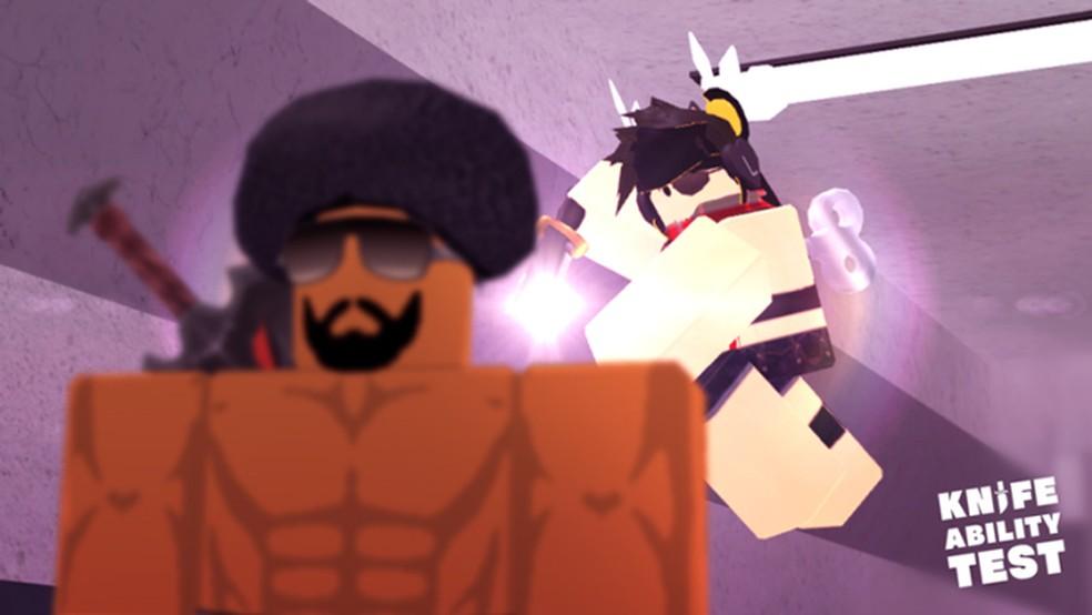 Em Kat, jogo do Roblox, os jogadores se enfrentam usando armas e facas em combates frenéticos — Foto: Reprodução/Roblox