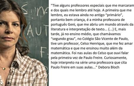 Debora Bloch volta a interpretar a professora Lúcia  TV Globo