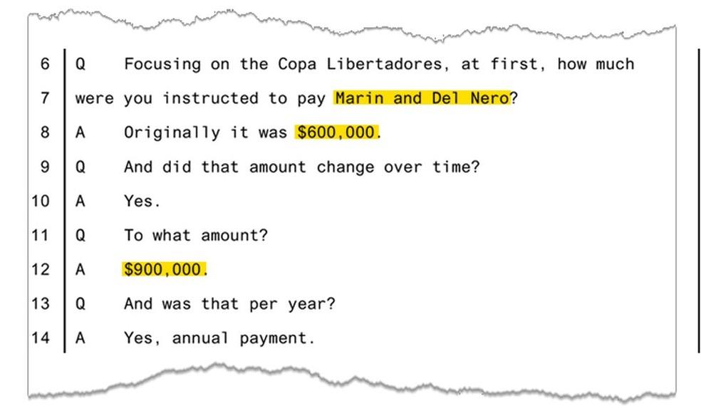 Depoimento de Eladio Rodriguez: valor da propina subiu para US$ 900 mil em 2013 (Foto: Reprodução) (Foto: Reprodução)
