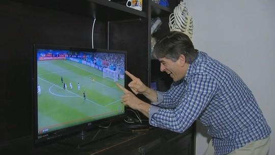 Argentinos acompanham partida da Argentina contra Croácia