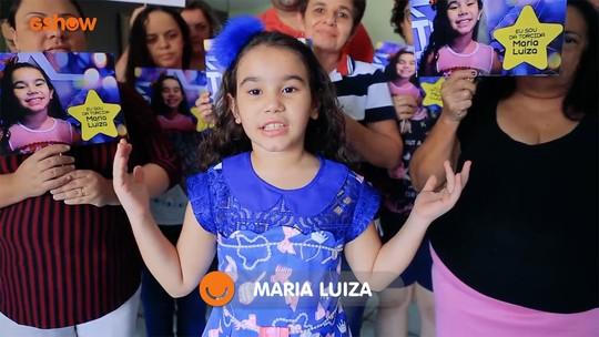 Maria Luiza quer fazer bonito na grande final e recebe apoio de torcida