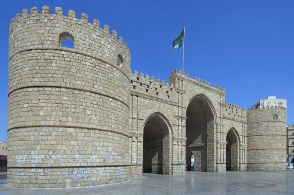 Jidá histórica e o Portão de Meca — Foto: Getty Images