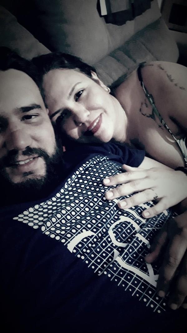 Jayson e Lilian contraíram Covid-19 — Foto: Jayson Freitas/Arquivo Pessoal