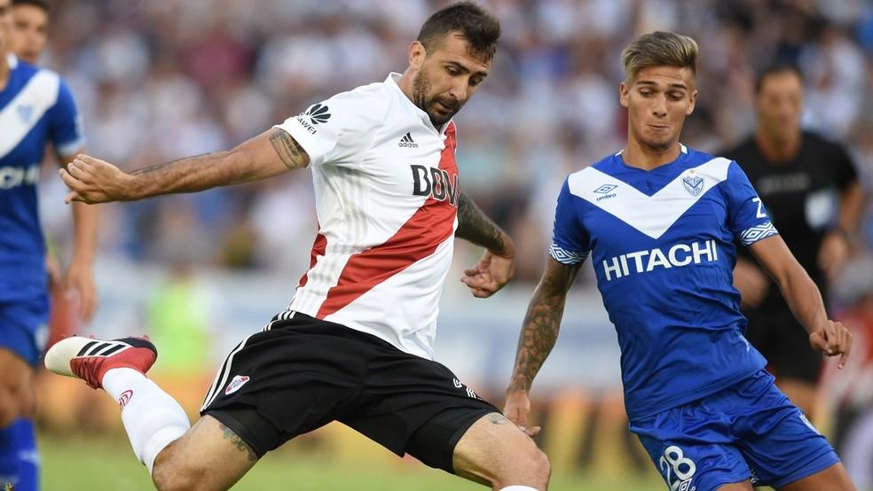 ... Pratto em ação no último fim de semana  River Plate perdeu mais uma —  Foto f03f9fb54b7ad