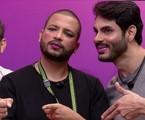 Caio Afiune, Projota e Rodolffo foram maquiados e despertaram discussão | Reprodução