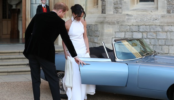 Harry e Meghan rumo à segunda recepção (Foto: Getty Images)
