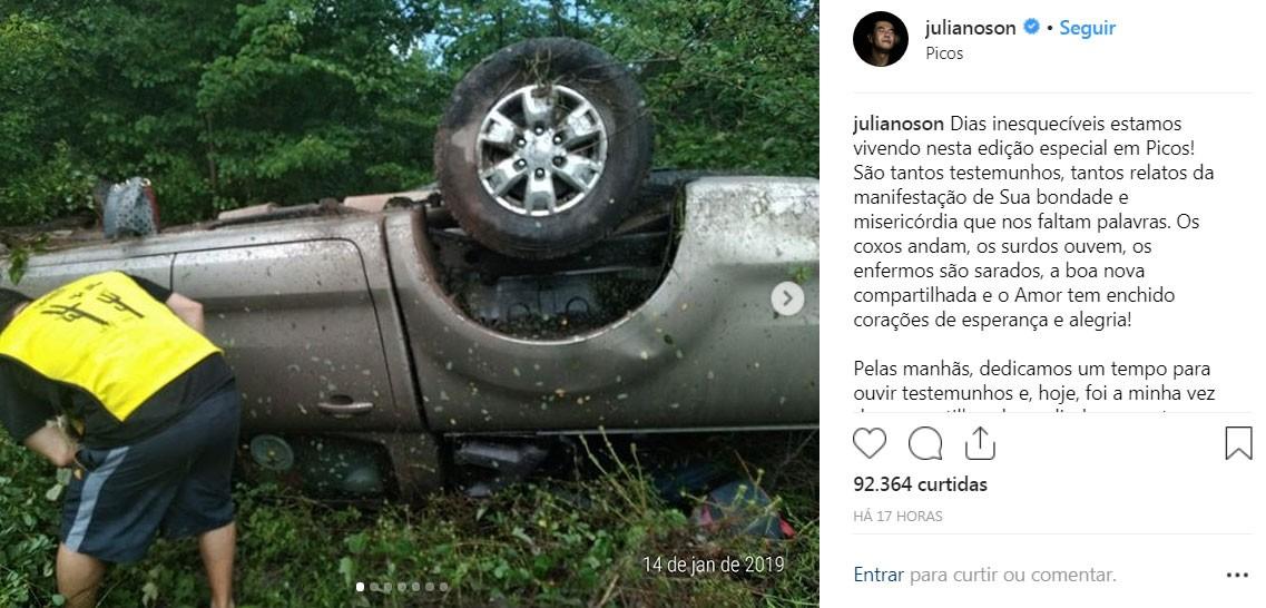 Juliano Son, cantor gospel, fala de acidente sofrido por esposa e filho: 'Vida e missão que seguem' - Noticias