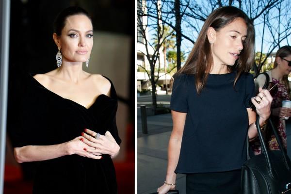 A atriz Angelina Jolie e a advogada Laura Wasser (Foto: Getty Images)