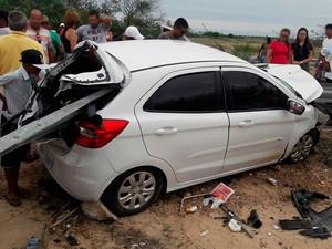 Acidente na BR-235 em Remanso, na Bahia (Foto: Edmar Passos/ Arquivo Pessoal)