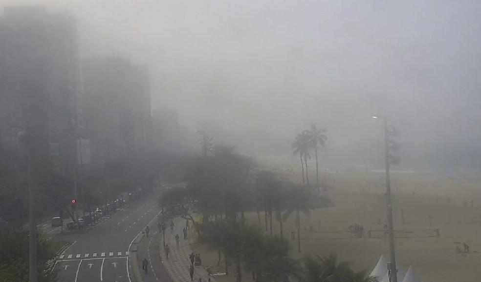 Neblina causa transtornos no Rio (Foto: Reprodução/Ecoponte)