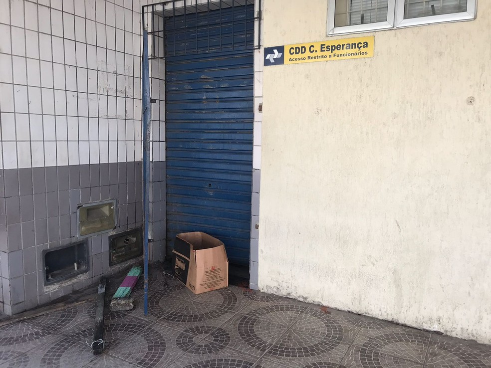 Centro de Distribuição dos Correios é arrombado na Zona Oeste de Natal (Foto: Kleber Teixeira/Inter TV Cabugi)