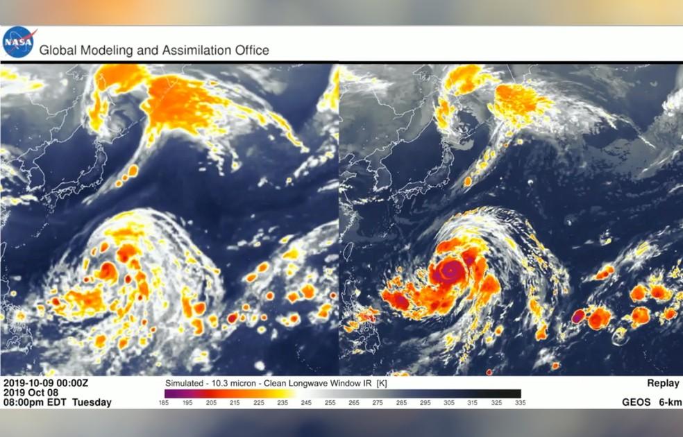 Novo sistema (à direita) tem informações mais precisas sobre previsão do tempo — Foto: Saulo Ribeiro/Arquivo Pessoal