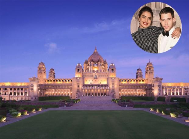 O casamento acontecerá no Taj Umaid Bhawan, um palácio histórico indiano (Foto: Taj Hotels/ Reprodução)
