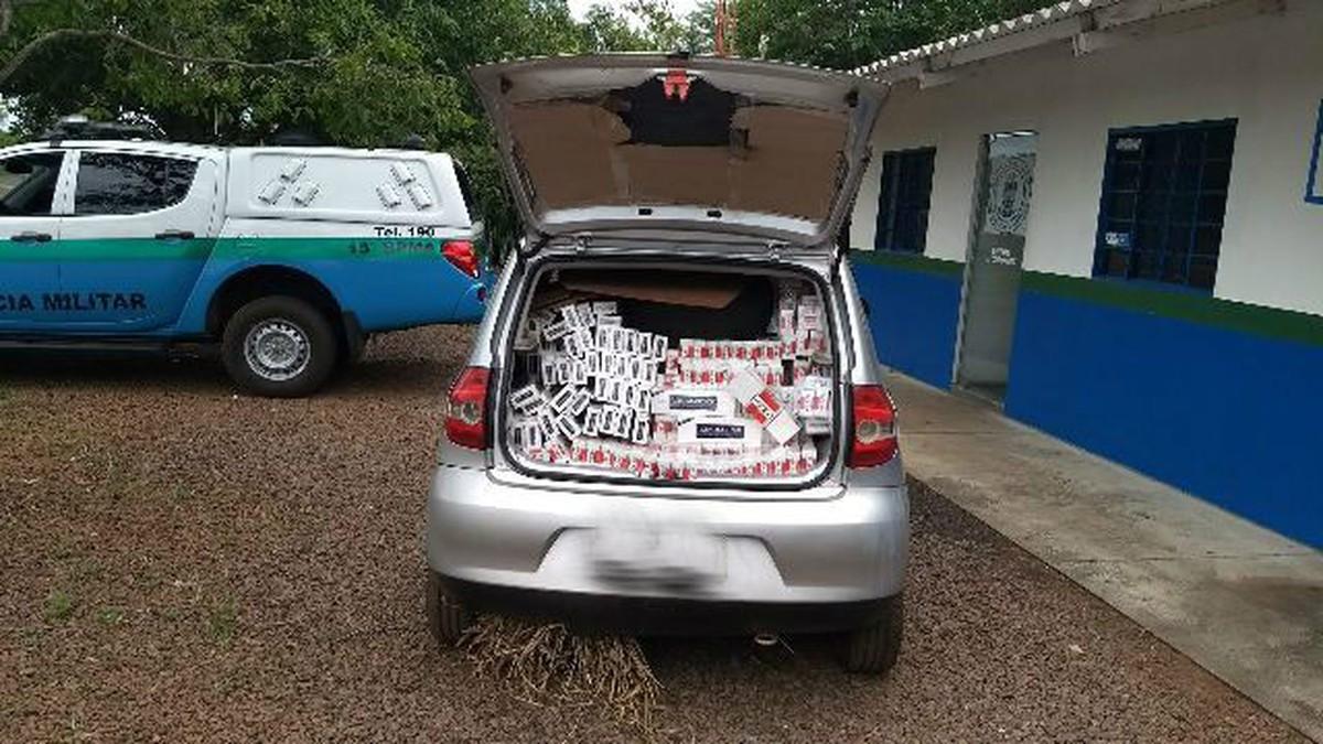 PMA apreende carro carregado com 1,2 mil pacotes de cigarros contrabandeados em MS
