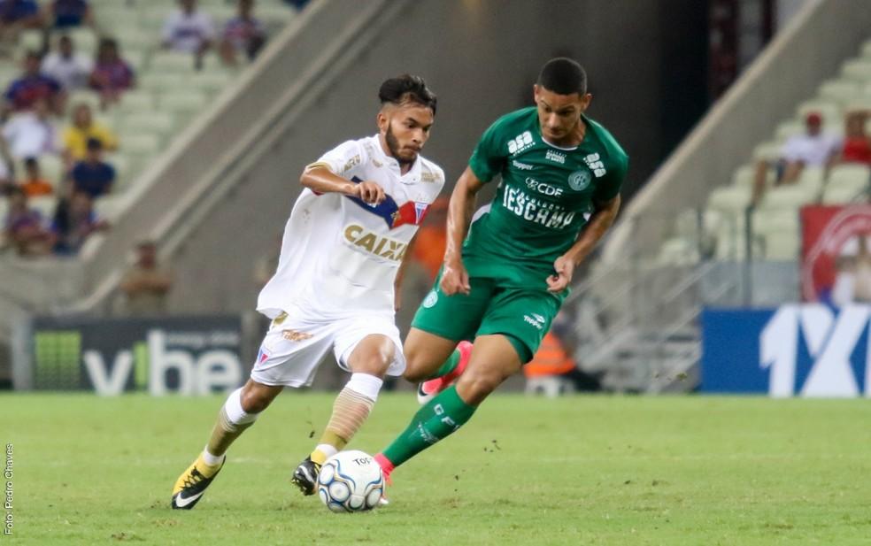 Wallace estreou pelo Fortaleza na Série B contra o Guarani (Foto: Pedro Chaves/Canal da Bola CE)