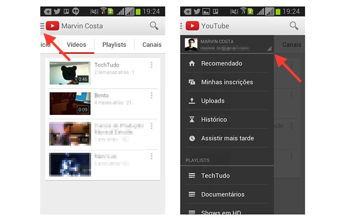 Acessando as configurações do aplicativo do YouTube no Android (Foto: Reprodução/Marvin Costa)