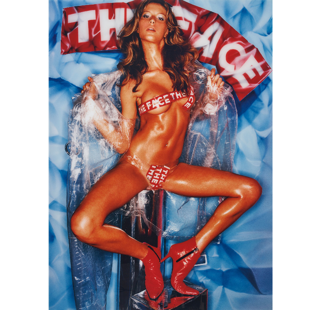 "Gisele em ""See through coat"" para a revista The Face, em 2000 (Foto:  David LaChapelle)"