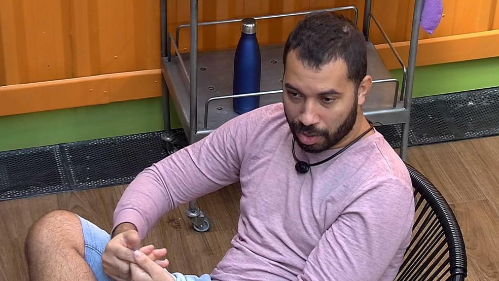 Gilberto opina sobre possível Paredão no BBB21: 'A Karol Conká e o Lucas ia ser babado' — Foto: Globo