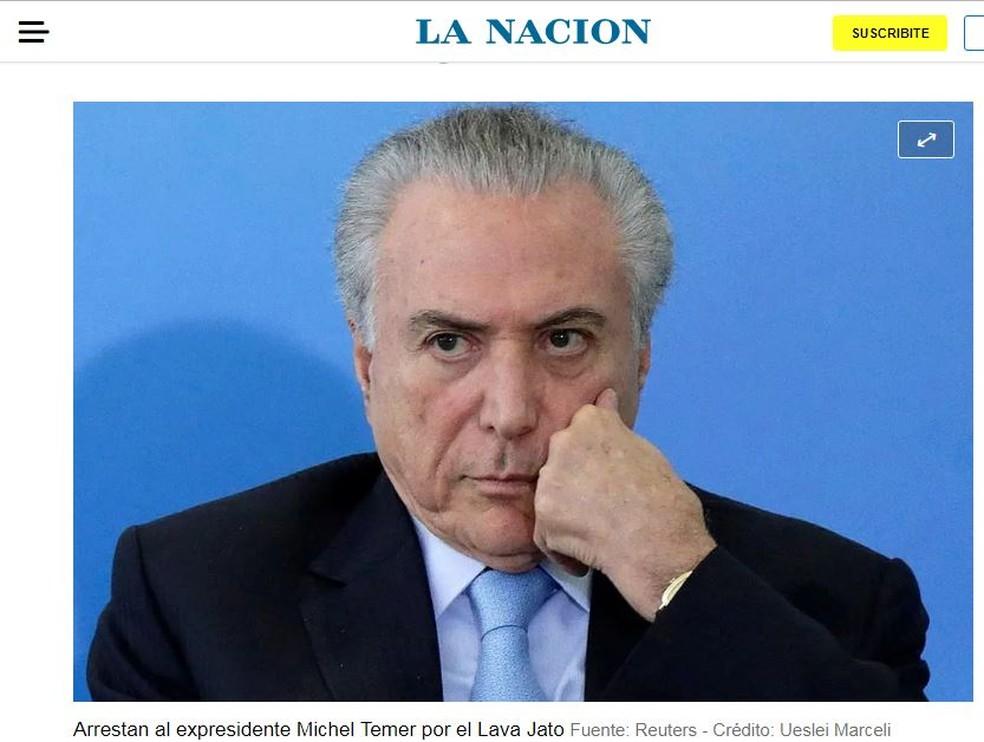 La Nación — Foto: Reprodução