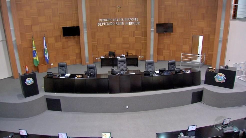 Plenário da Assembleia Legislativa de Mato Grosso (Foto: TVCA/Reprodução)