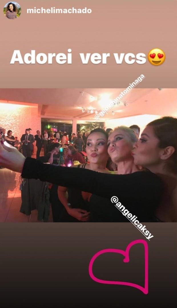 Angélica com Geovanna Tominaga e Micheli Machado (Foto: Reprodução/Instagram)