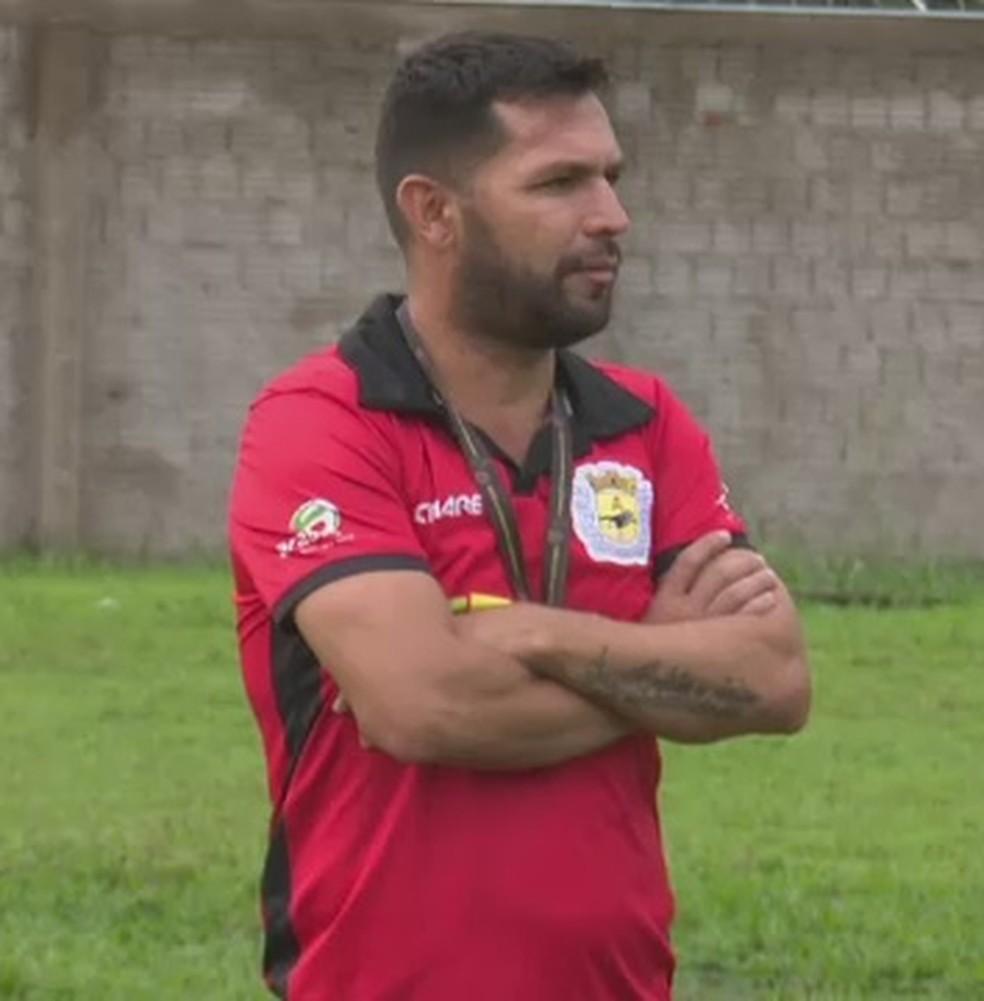 Zé Marco, técnico do Galvez — Foto: Reprodução/Rede Amazônica Acre