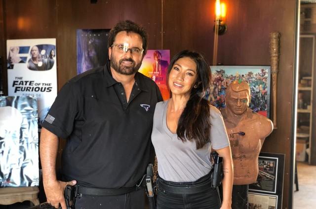 Danni Suzuki e o preparador Taran Butler (Foto: Arquivo pessoal)