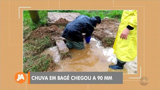 Chuva intensa em Bagé deixa as barragens de abastecimento com os níveis máximos