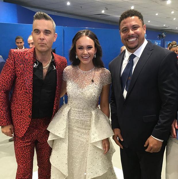 Ronaldo, Aida Garifullina e Robbie Williams (Foto: Reprodução/Instagram)