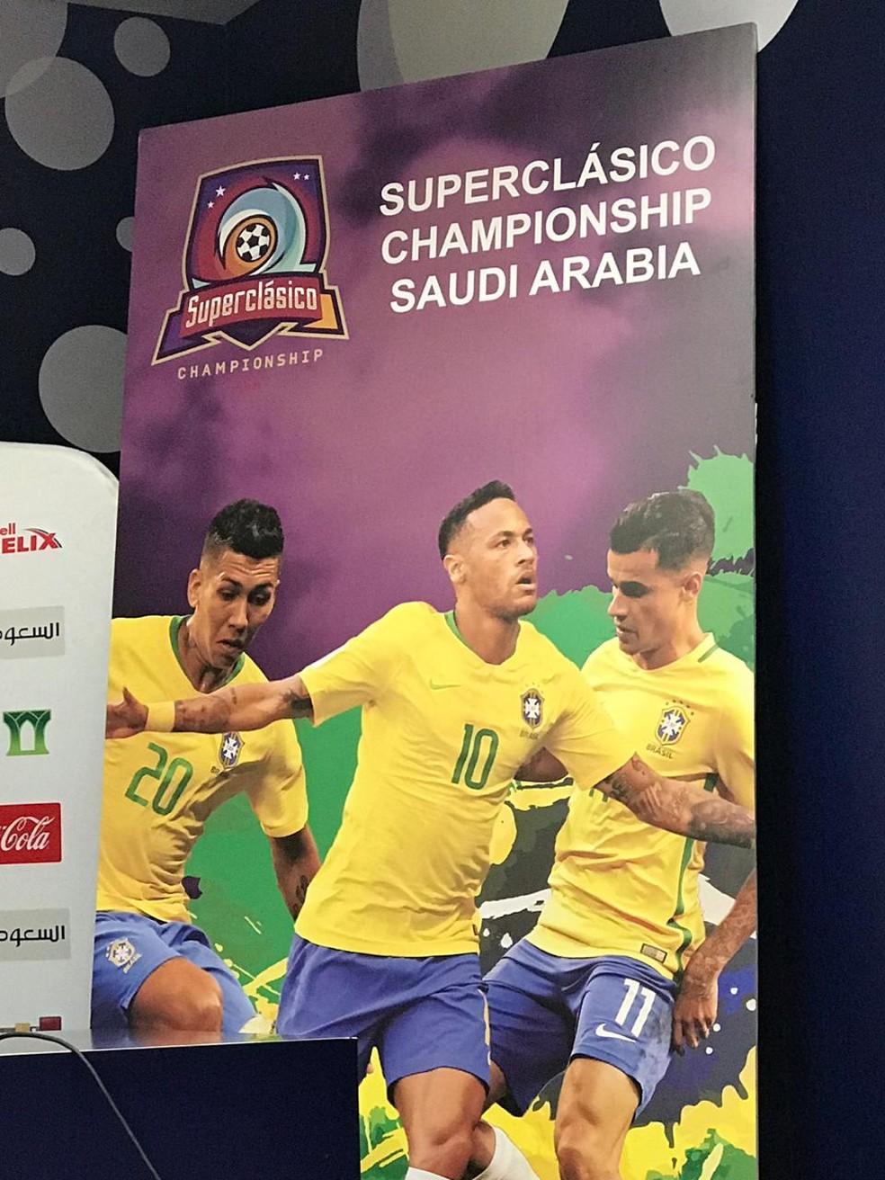 superclássico seleção brasileira Brasil Arábia Saudita — Foto: Alexandre Lozetti