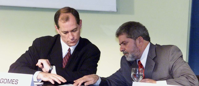 Ciro Gomes e Lula, na campanha de 2002