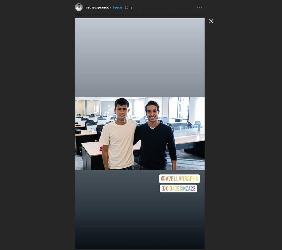 Matheus Pires Barbosa é contratado na agência Avellar — Foto: Reprodução/Instagram