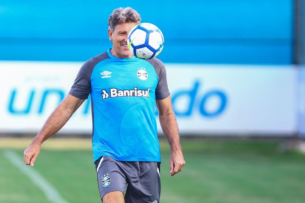 Renato tem um título e duas semis com o Grêmio (Foto: Lucas Uebel/Grêmio)
