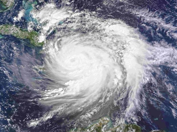 Imagem de satélite da Nasa mostra o furacão Matthew nesta quinta-feira (6) (Foto: NASA/Handout via REUTERS)