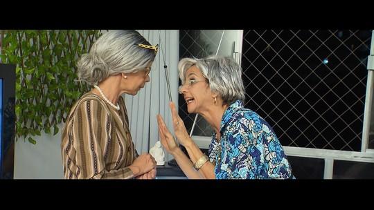 Maria Menezes contracena com Rita Brandi na despedida do sinal analógico