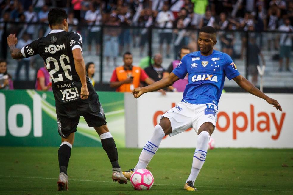 Cacá estreou pelo time profissional do Cruzeiro em outubro de 2018, contra o Vasco — Foto: Vinnicius Silva/Cruzeiro