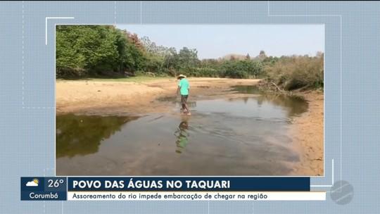 Assoreamento do rio impede assistência em comunidades no Taquari