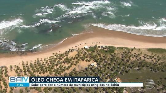 Machas chegam à praia de Manguinhos e sobe para dez o número de municípios afetados